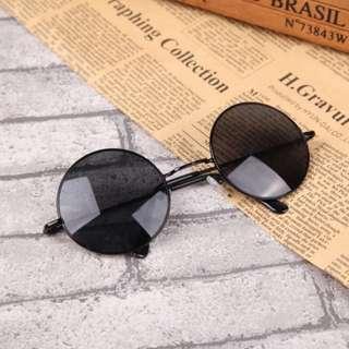 Kacamata Retro Vintage Bulat Hitam