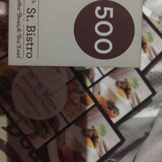 26th Bistro / CoffeeBean - P2000 worth