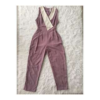 Jumpsuit overall purple
