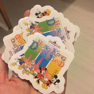 Hk Disneyland 非賣品貼紙