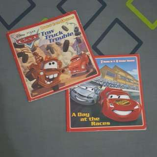 Disney's CARS 2 in 1 books (2pcs)