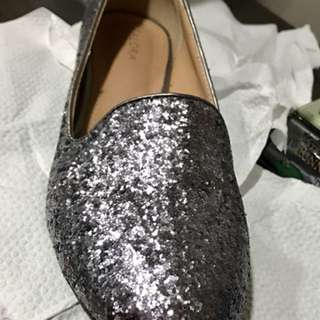 Glittered loafers shoes