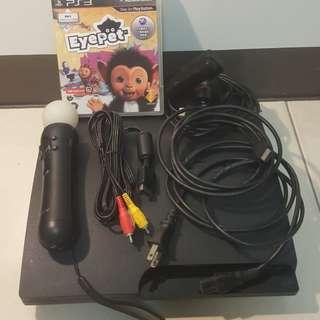 🚚 PS3主機(CECH-3007A)+EYE PET寵物遊戲片!含運!
