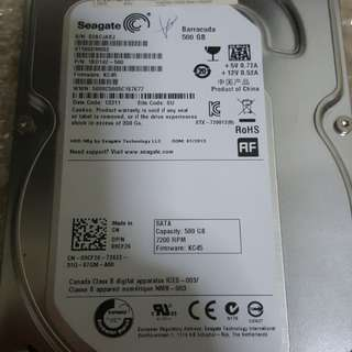 "500GB Seagate 3.5"" Desktop HDD"