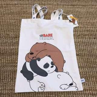 咱們裸熊:we bare bears 慵懶布袋(白色)