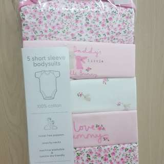 Mothercare 5pcs Girl Bodysuit (3 to 6 months)