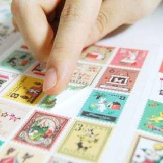 郵票貼紙 可愛手帳貼紙