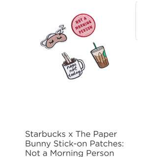 Starbucks x The Paper Bunny Stick-on Patches