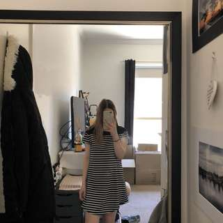 Stripped T-Shirt Dress