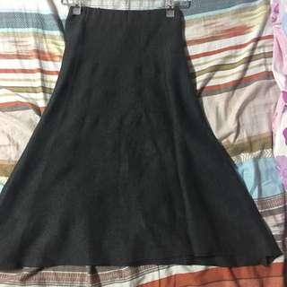 灰色針織半節裙
