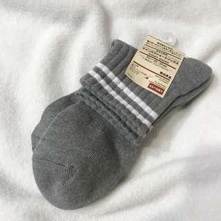 無印 長襪 條紋 襪子 基本款