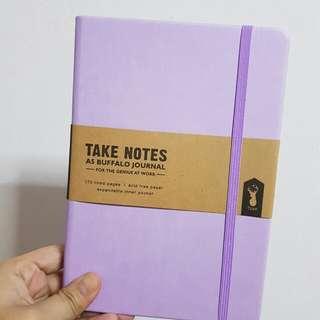 Typo Purple A6 Buffalo Notebook