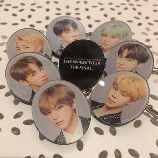 BTS Acrylic Badges (RM, Jin, Suga, JH, JM, V, JK)