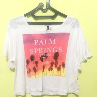 H&m Croptee Palm Springs (xs)