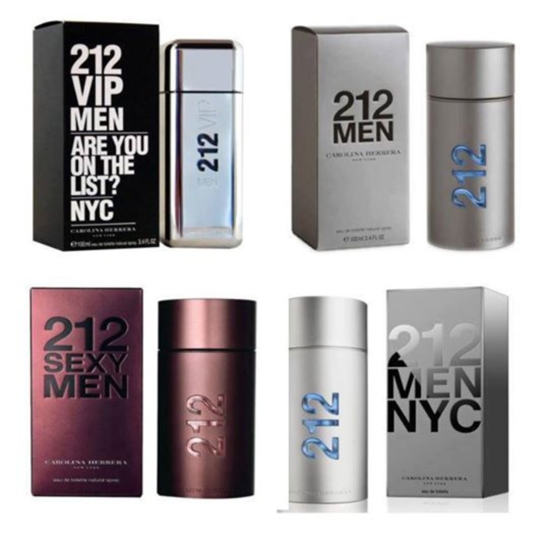212 Men Series by Carolina Herrera, Health & Beauty, Perfumes, Nail Care, &  Others on Carousell
