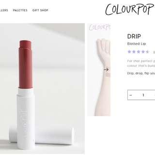 (BN) COLOURPOP 'DRIP' Blotted Lip