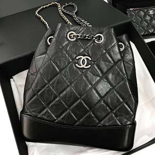 🈹️ 100% NEW Chanel Gabrielle Black Backpack (S)