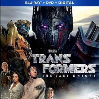 Transformer 5 : The Last Knight Blu Ray