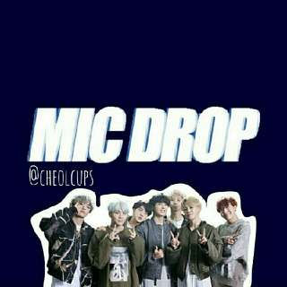 BTS - MIC DROP FANMADE GOODS by @cheolcups