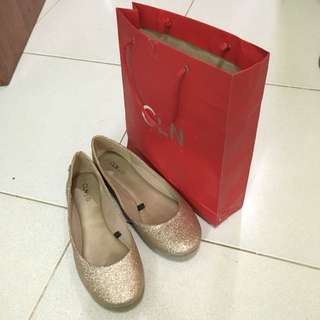 CLN Flat Shoes with Glitters