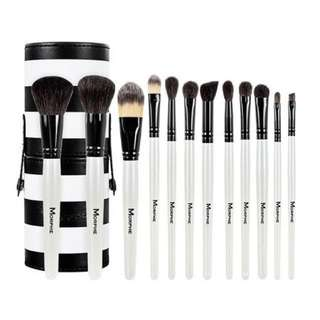 Morphe Set 706 - 12 PIECE BLACK AND WHITE TRAVEL SET