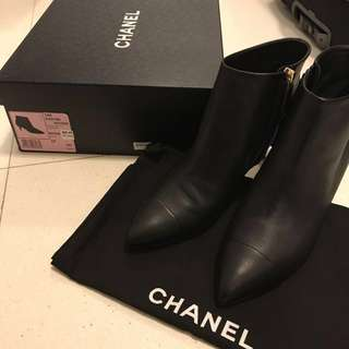 Chanel ankle boots leather