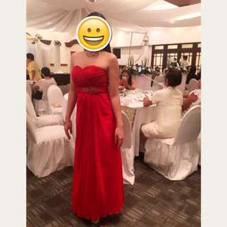 Red Elegant Gown
