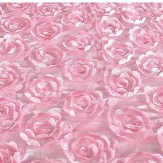 Pink Rose Cloth for Weddings or Events Backdrops
