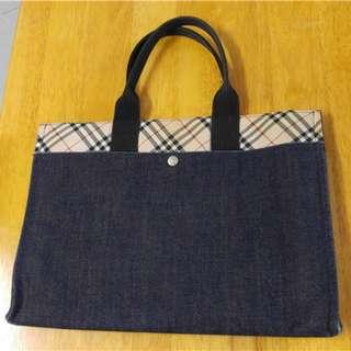 Burberry Blue Label 牛仔布手提袋