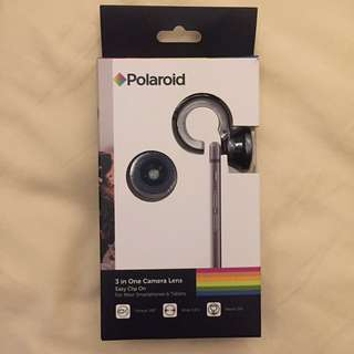 Polaroid 3 in 1 camera lens for mobile smartphone - wide angle, fish eye, macro
