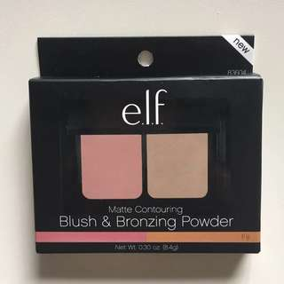 e.l.f. elf Contouring Blush & Bronzing Powder Fiji Matte