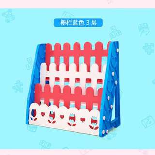 BNIB - Childrens' / Kids' bookshelf / book rack (Red, white & blue)