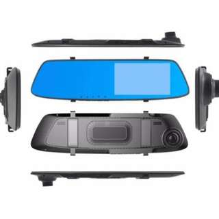 A75 Car DVR Mirror DUAL Camera FrontBack 1080p touch screen Dashboard Camera