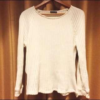 White sweater knit
