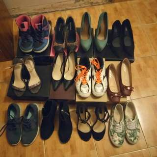 Preowned Shoes - Heels Boots Rubber Shoes Sandals Flats