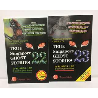 Brand New True Singapore Ghost Stories Vol 22 & 23 By Russell Lee (Have Vol 1-20 as well in another post)
