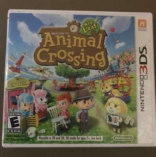 Authentic Nintendo 3DS Animal Crossing New Leaf