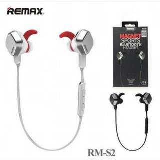 Remax S2 Unique Magnet Wireless Bluetooth Sport Earphone