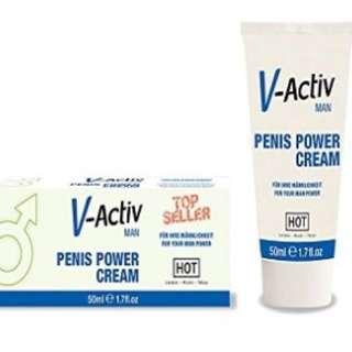 奧地利 HOT V-Activ Penis Power Cream for men, 50 ml