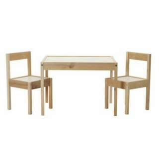 IKEA - LATT Children's table with 2 chairs