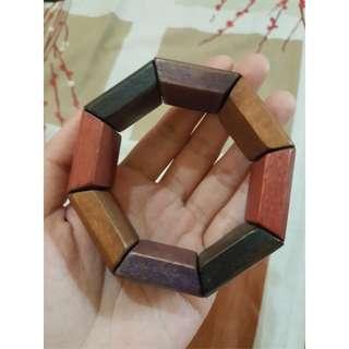Colored Wood Bracelet