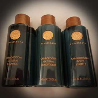 BN Harnn Travel Set, Shampoo, Conditioner, Body Lotion