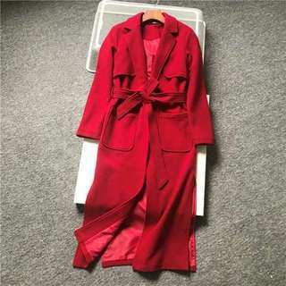 (NEW) UK brand COLLECTION LONDON red coat (Size 10)