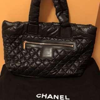 CHANEL Coco Cocoon Tote Bag nylon black