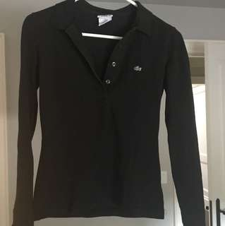Lacoste Black Long Sleeve - Size Small