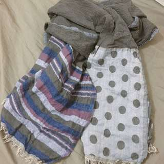 點點條文圍巾