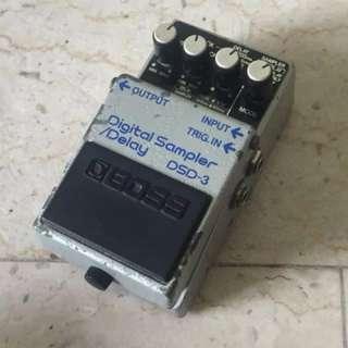 Boss DSD-3 Digital Sampler / Delay Japan Discontinued Vintage Electric Guitar Effects Pedal