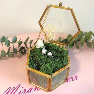 Vintage ring box 玻璃介子盒 Wedding 婚 prewedding