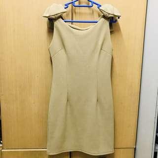 (包郵)裸色顯瘦party飲裙