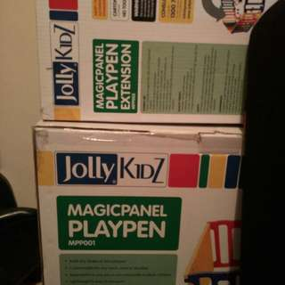 Jolly kidz playpen with free extension worth rm200